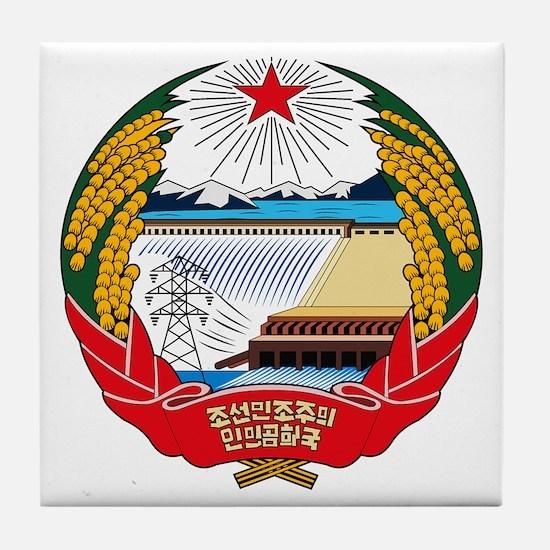North Korean Coat of Arms Tile Coaster