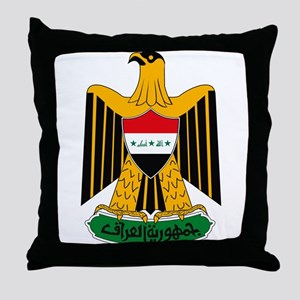 Iraq Coat of Arms Throw Pillow