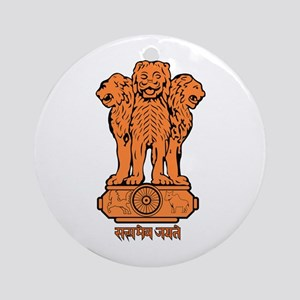 India Coat of Arms Ornament (Round)