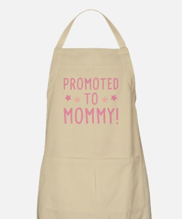 Promoted To Mommy! Light Apron