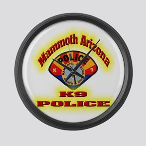 Mammoth Police K9 Large Wall Clock