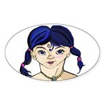 Gifts Based on 2010 Paintings Sticker (Oval 50 pk)
