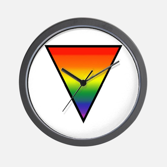 Cute Rainbow womens symbol Wall Clock