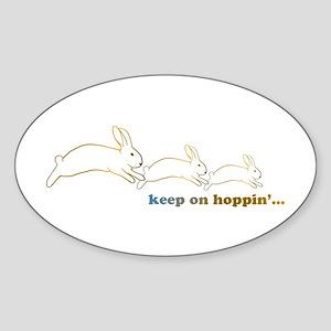 keep on hoppin' Sticker (Oval)