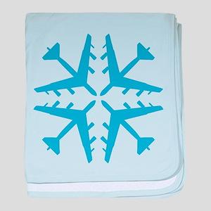 B-52 Aviation Snowflake Infant Blanket