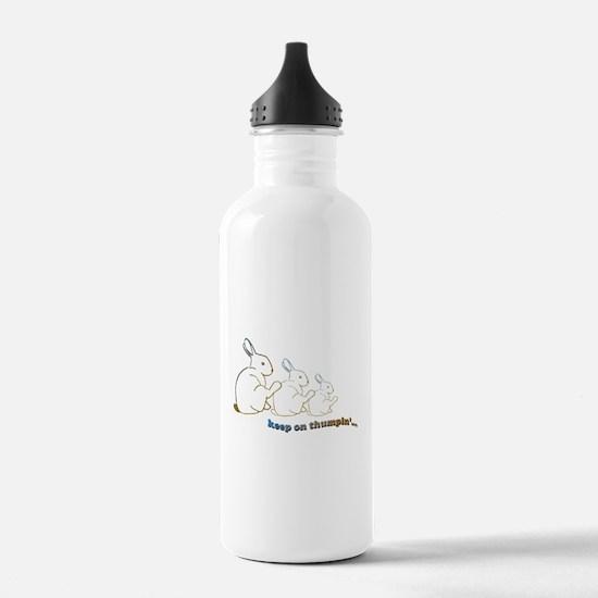 keep on thumpin' Water Bottle
