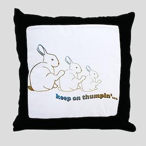 keep on thumpin' Throw Pillow