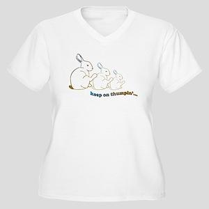keep on thumpin' Women's Plus Size V-Neck T-Shirt