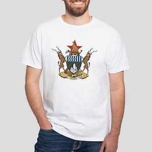 Zimbabwe Coat of Arms White T-Shirt