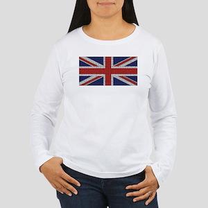 Union Jack British Flag Women's Long Sleeve T-Shir