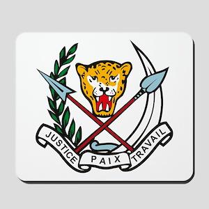 Zaire Coat of Arms Mousepad