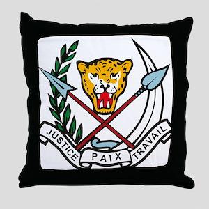 Zaire Coat of Arms Throw Pillow