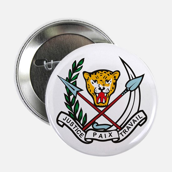 """Zaire Coat of Arms 2.25"""" Button (10 pack)"""