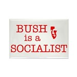 Bush = Socialist Rectangle Magnet (100 pack)