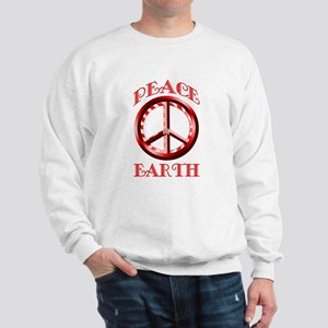Candy Cane Peace on Earth Sweatshirt