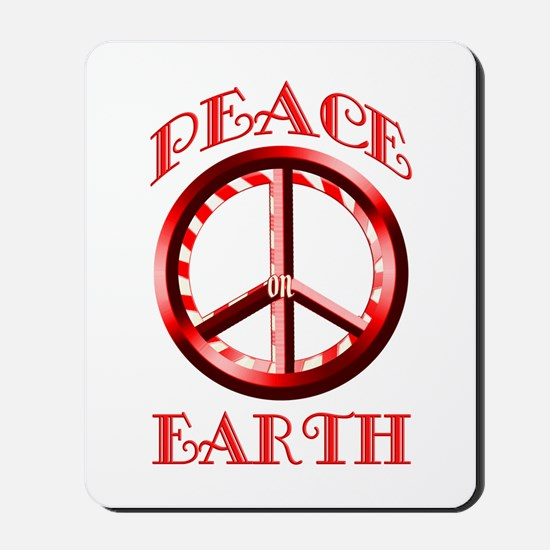 Candy Cane Peace on Earth Mousepad