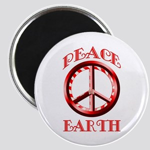 Candy Cane Peace on Earth Magnet