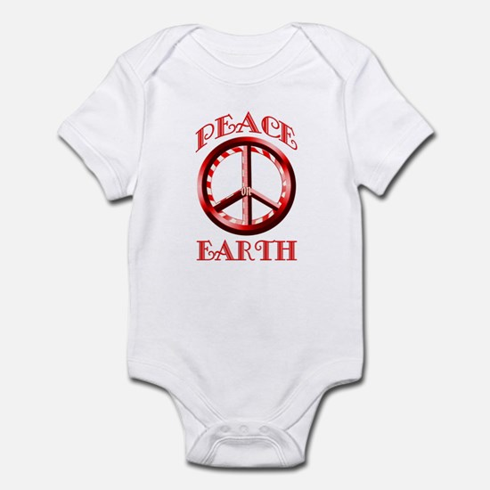 Candy Cane Peace on Earth Infant Bodysuit