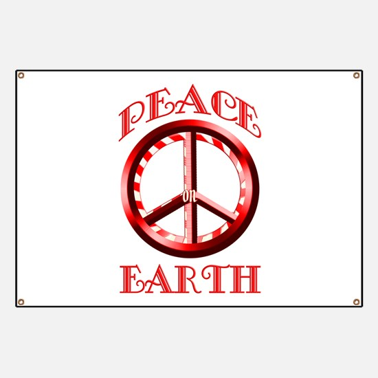 Candy Cane Peace on Earth Banner