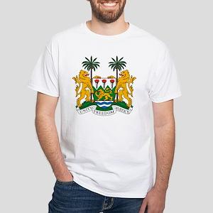 Sierra Leone Coat of Arms White T-Shirt