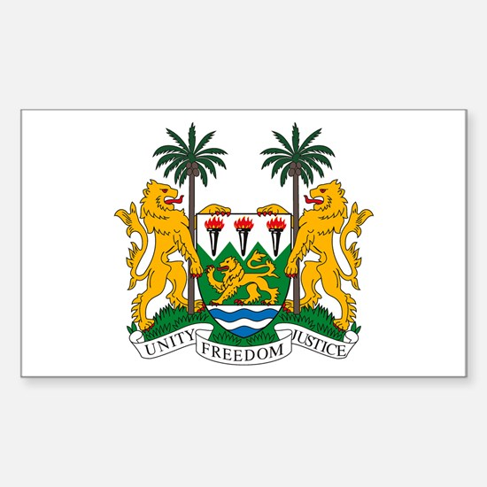 Sierra Leone Coat of Arms Rectangle Decal