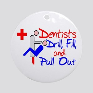 Dentists Drill Ornament (Round)