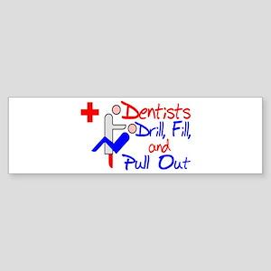 Dentists Drill Sticker (Bumper)