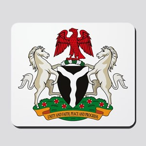 Nigerian Coat of Arms Mousepad