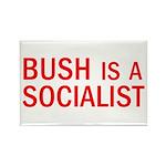 Bush = Socialist Rectangle Magnet (100 pack)