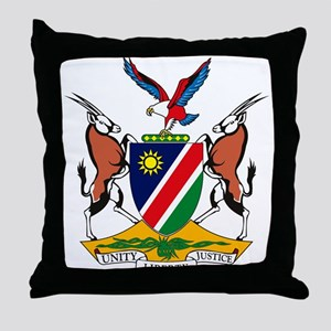 Namibia Coat of Arms Throw Pillow