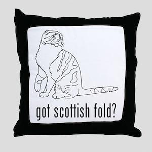 Scottish Fold Throw Pillow