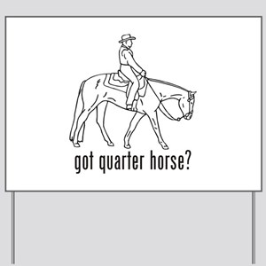Quarter Horse Yard Sign