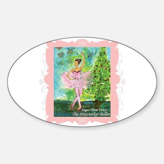 Sugar Plum Fairy Sticker (Oval)