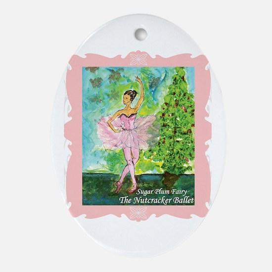 Sugar Plum Fairy Ornament (Oval)