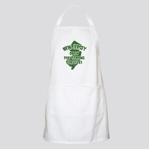 New Jersey Only the Strong Survive BBQ Apron