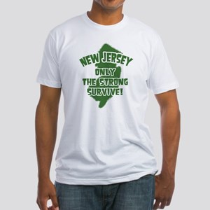 New Jersey Only the Strong Survive Fitted T-Shirt