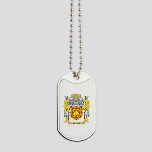 Seton Family Crest - Coat of Arms Dog Tags
