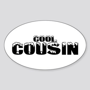 Cool Cousin Oval Sticker