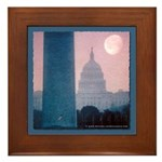Capitol Moonset Framed Tile