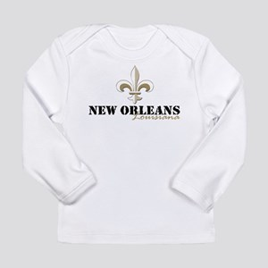 New Orleans, Louisiana gold Long Sleeve Infant T-S