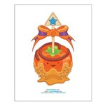 Kawaii Orange Candy Apple Small Poster