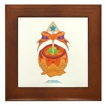 Kawaii Orange Candy Apple Framed Tile