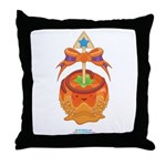 Kawaii Orange Candy Apple Throw Pillow