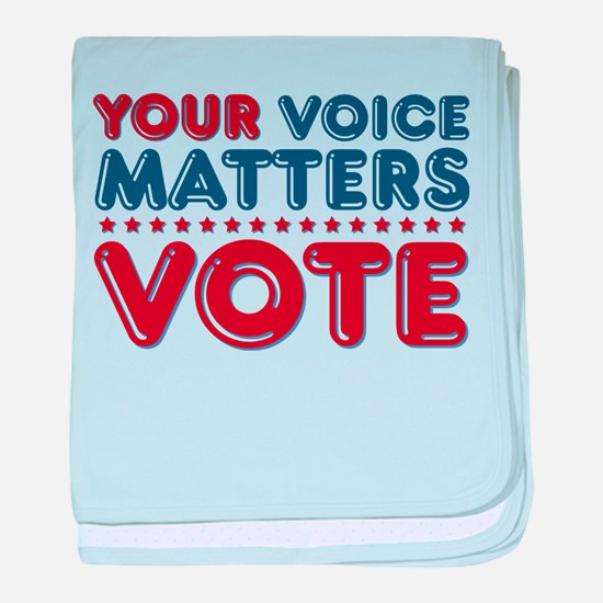 Your Voice Matters Infant Blanket