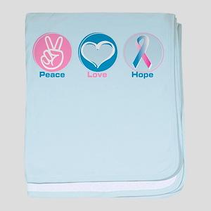 Peace Love BlPk Hope baby blanket