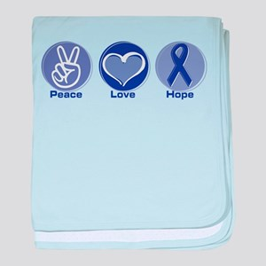 Peace Love Purple Hope Infant Blanket