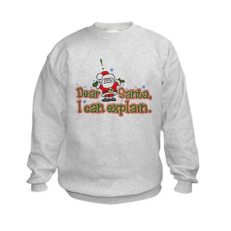 Dear Santa, I can Explain Kids Sweatshirt