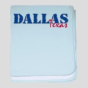 DALLAS Texas Infant Blanket