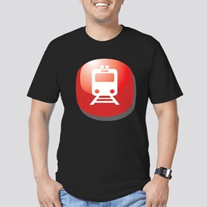 Train Rail Transit Button Men's Fitted T-Shirt (da