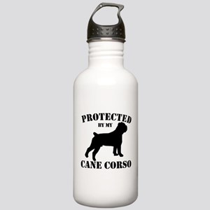 Protected by my Cane Corso Stainless Water Bottle